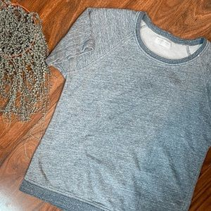 Everlane Blue Short Sleeve Sweater Tee